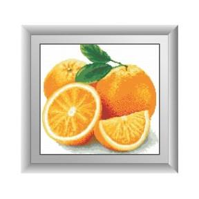 Набор для рисования камнями алмазная живопись Dream Art Апельсин (квадратные, полная) 30453D