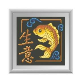 Набор для рисования камнями алмазная живопись Dream Art Бизнес (квадратные, полная) 30451D