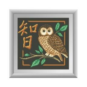 Набор для рисования камнями алмазная живопись Dream Art Мудрость (квадратные, полная) 30450D