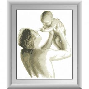 Набор для рисования камнями Dream Art. 30443 Отец с малышом