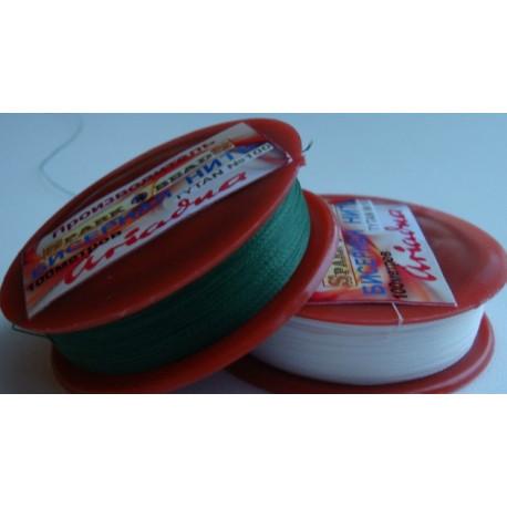 Бисерная нить TYTAN 2576 зеленая 100м фото