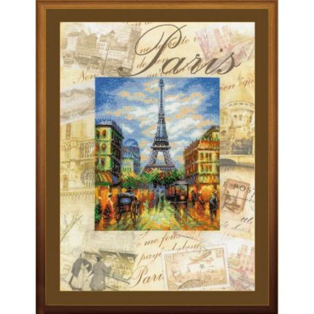 Набор для вышивки крестом Риолис РТ-0018 Париж.Город мира фото