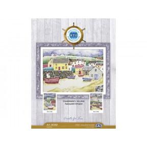 Набор для вышивки крестиком RTO M390 Рыбацкий городок / Fisherman`s village