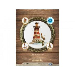 """Набор для вышивки крестиком RTO M394 Маяк """"Гнездо пеликана"""" / Lighthouse """"Pelican"""""""