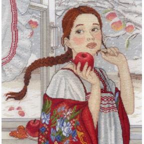 Набор для вышивки крестом МП Студия НВ-566 Зимняя красавица