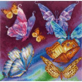 Набор для вышивки Сделай Своими Руками Радужные бабочки Р-11