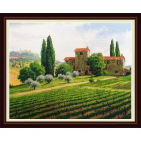 Набор для вышивания крестиком OLanTa VN-038 Виноградники