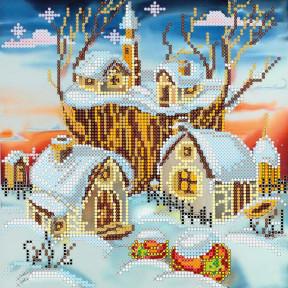 Схема для вышивания бисером Абрис Арт АС-038 Волшебная зима
