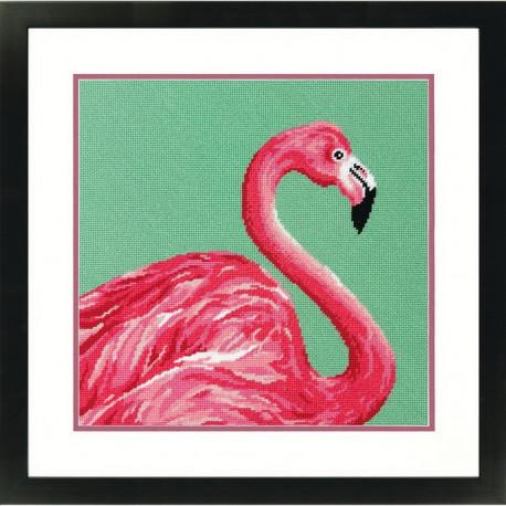 "Набор для вышивания Dimensions 71-20086 ""Розовый фламинго/Pink"