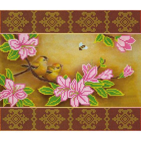 Схема для вышивания бисером Абрис Арт АС-102 Весеннее цветение