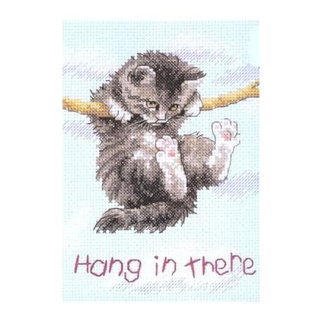 Набор для вышивания Dimensions 16734 Hang on Kitty фото