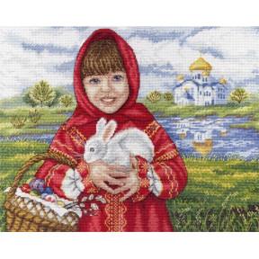 Набор для вышивки крестом МП Студия НВ-623 Пасхальный кролик