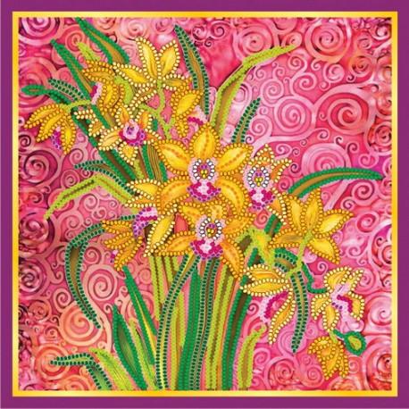Схема для вышивания бисером Абрис Арт АС-056 Розовый шарм фото