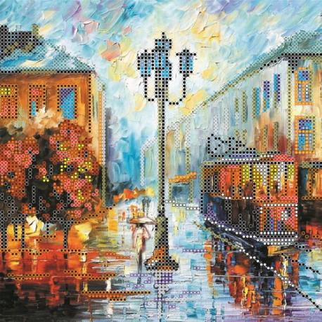 Схема для вышивания бисером Абрис Арт АС-060 Осенний сюжет фото