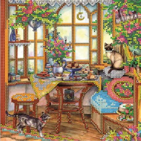 Схема для вышивания бисером Абрис Арт АС-066 На веранде фото