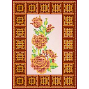 Схема для вышивания бисером Абрис Арт АС-109 Красная роза