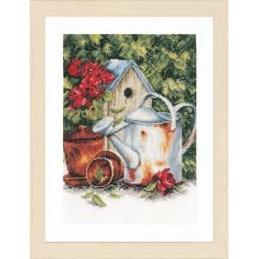 Набор для вышивания Lanarte PN-0167124 Watering can & birdhouse