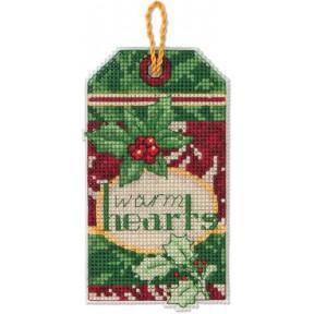 Набор для вышивания Dimensions 70-08892 Warm Hearts Ornament