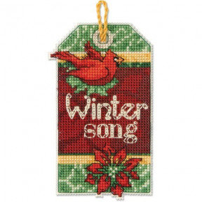 Набор для вышивания Dimensions 70-08891 Winter Song Ornament