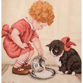 Набор для вышивания крестом Classic Design Завтрак для котенка