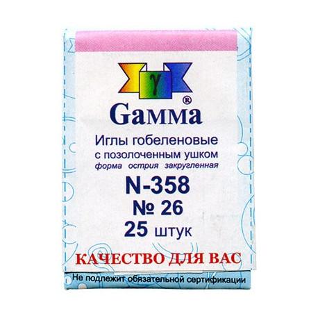 Иглы гобеленовые 358 № 26 Гамма фото