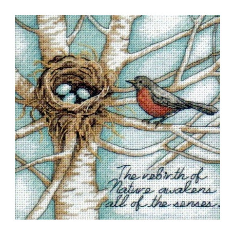 Набор для вышивки крестом Dimensions 65076 Robin's Nest фото