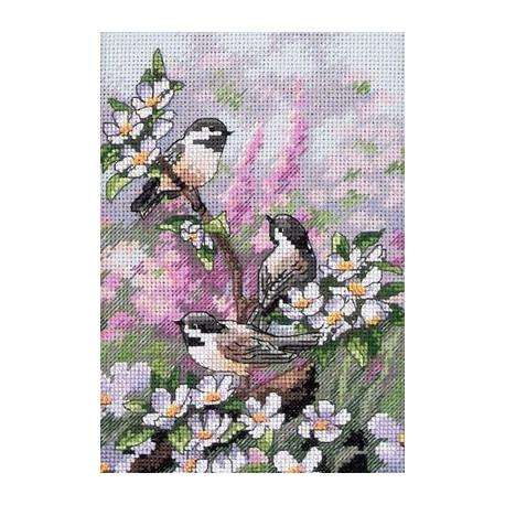 Набор для вышивки Dimensions 06884 Chickadees In Spring фото