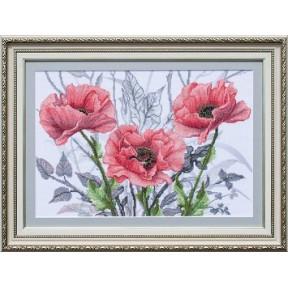 Набор для вышивания бисером и крестом Нова Слобода ННД-1097 Розовая сюита