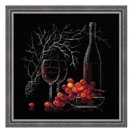 Набор для вышивки крестом Риолис 1239 Натюрморт с красным вином