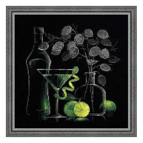 Набор для вышивки крестом Риолис 1240 Натюрморт с мартини фото
