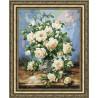 Набор для вышивки Золотое Руно ЛЦ-043 Букет белых роз фото