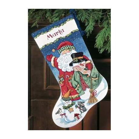 Набор для вышивания Dimensions 08714 Santa & Snowman фото