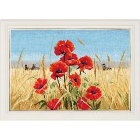 Набор для вышивки крестом Овен 1010 Лето,поле,маки