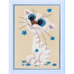Набор для вышивки крестом Овен 1020 Кошка-крошка