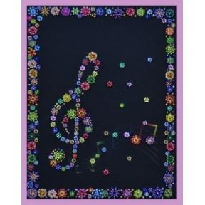 Набор для вышивания Картины Бисером Р-228 Веселая мелодия