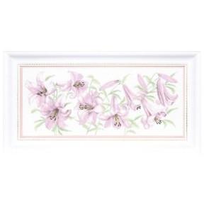 Набор для вышивки Чарівна Мить М-231 Сиреневые лилиии