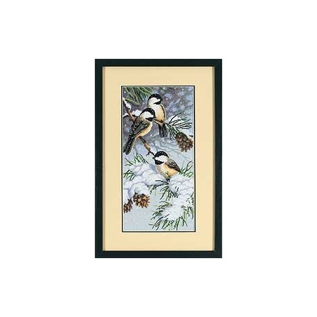 Набор для вышивания Dimensions 13673 Chickadees and Pinecones
