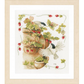 Набор для вышивания Lanarte PN-0168599 Strawberries and Birds