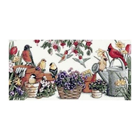Набор для вышивания Dimensions 13724 Garden Friends Birds фото