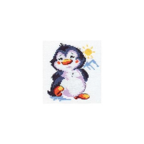 Набор для вышивки крестом Алиса 0-32 Пингвиненок фото