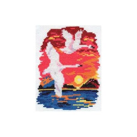 Набор для вышивки крестом Алиса 0-28 Лебеди фото