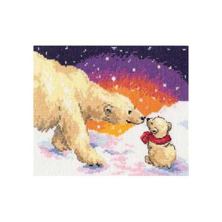 Набор для вышивки крестом Алиса 0-26 Белые медведи фото