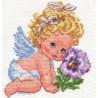 Набор для вышивки крестом Алиса 0-14 Ангелок счастья фото