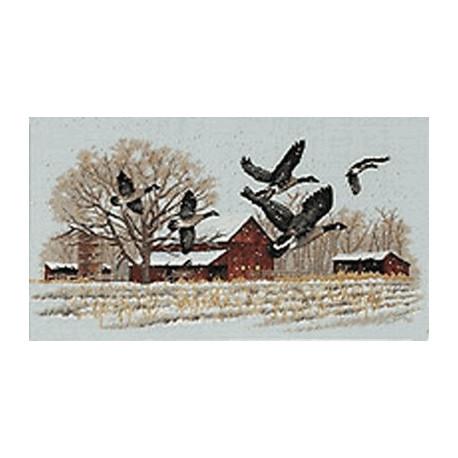 Набор для вышивания Dimensions 13732 Winter Geese фото