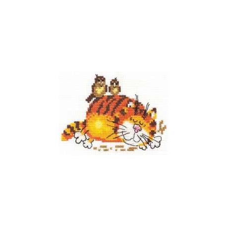 Набор для вышивки крестом Алиса 0-01 Ленивый кот фото