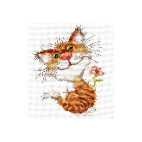 Набор для вышивки крестом Алиса 0-87 Кисочка фото
