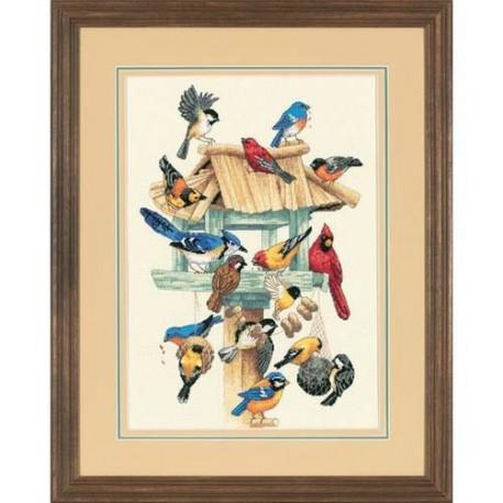 Набор для вышивания Dimensions 13683 Feasting Frenzy Birdhous