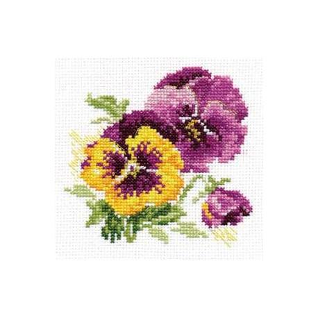 Набор для вышивки крестом Алиса 0-81 Анютины глазки фото