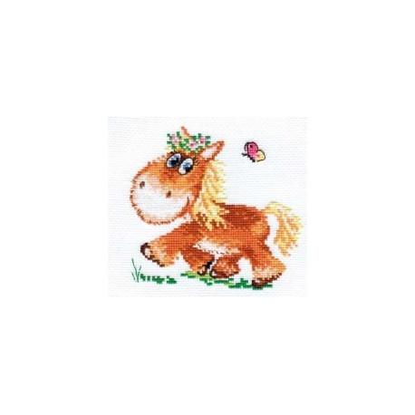 Набор для вышивки крестом Алиса 0-74 Лошадка фото