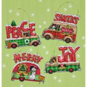 Набор для вышивания Dimensions 70-08974 Holiday Truck Ornaments